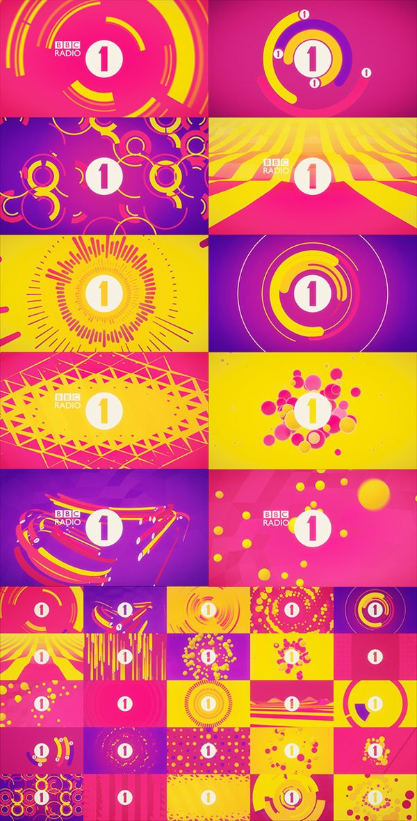 BBC Radio 1 Club Visuals on Motion Graphics Served