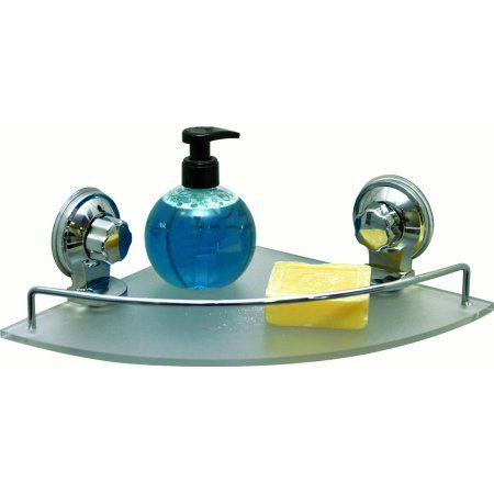 Free Shipping. Buy Bathroom Corner Shower Caddy Frosted Acrylic Shelf Suction Mounted at Walmart.com
