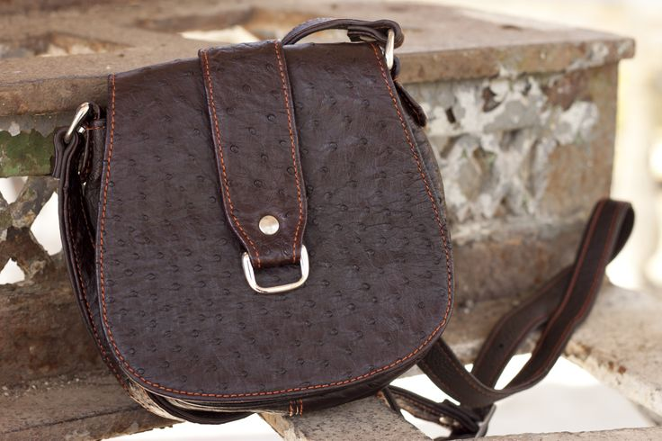 unisex ostrich leather bag