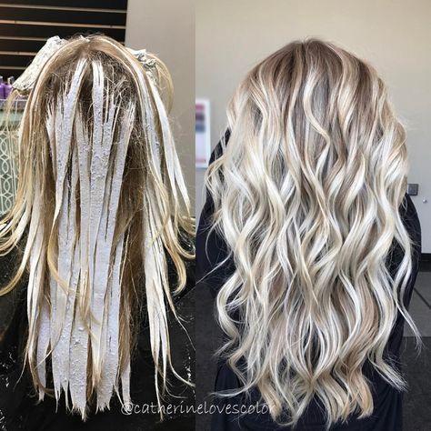 Ashy icy platinum blonde hair