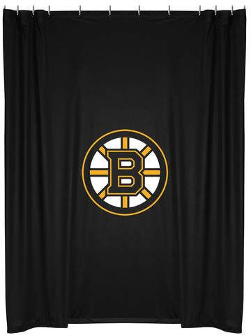 Sports Coverage NHL Shower Curtain Team Boston Bruins Weightswash Dimensions
