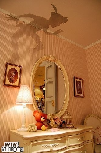 i want this!: Peter O'Toole, Idea, Kidsroom, Peterpan, Lampshade, Peter Pan Shadow, Kids Rooms