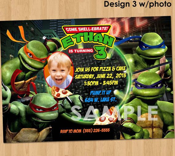 Best 25 ninja turtle invitations ideas on pinterest ninja teenage mutant ninja turtles invitation tmnt party printables tmnt birthday party invitation custom personalized tmnt invitation stopboris Image collections