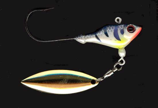 Sworming hornet freshwater fish head spin lures for Fish head spin
