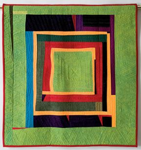 Quilted Strait - Gwen Marston Lecture - Abstract Quilts in Solids