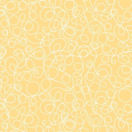 Fabric - Lined Squiggles Yellow ~ Adornit ~