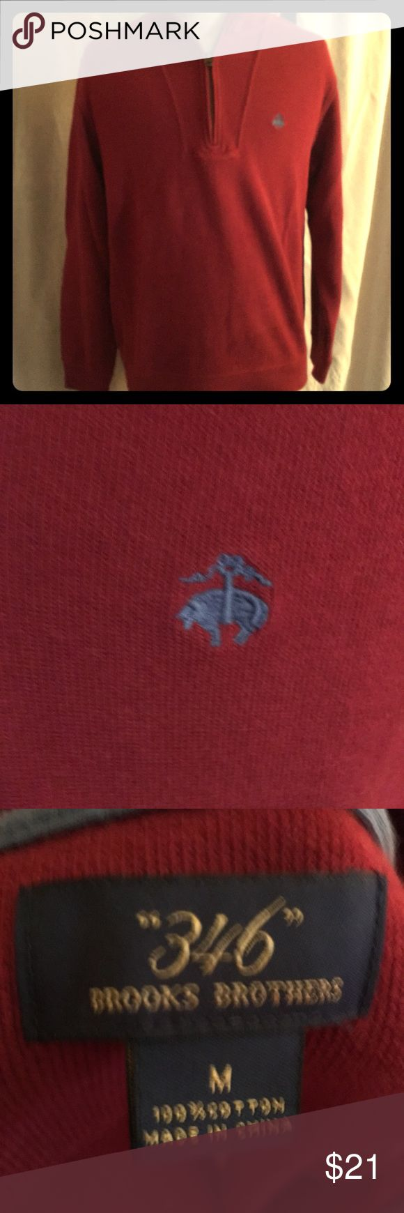 Men's Brooks Brothers collared sweatshirt Very soft! In excellent condition! Dark red color Brooks Brothers Shirts Sweatshirts & Hoodies