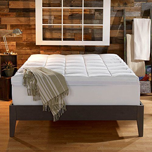 Sleep Innovations 4-Inch Dual Layer Mattress Topper - Gel Memory Foam and Plush Fiber. 10-year limited warranty. King Size // Buy It now http://bestmattressreview.us/product/sleep-innovations-4-inch-dual-layer-mattress-topper-gel-memory-foam-and-plush-fiber-10-year-limited-warranty-king-size/