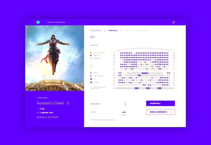 Cinema Tickets Booking / UI Challenge — Week 10
