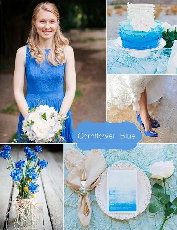 2015 trending cornflower blue inspired spring may wedding color ideas