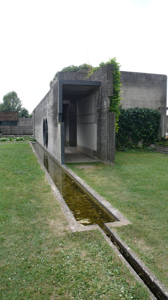 Tomba Brion Cemetery. San Vito d'Altivole, Italy. 1969-78. Carlo Scarpa. Photo…