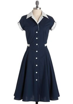 I need one of these in every color imaginable for my new job. :) Baba-blue Dress, #ModCloth