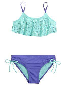 Embellished Flounce Bikini Swimsuit