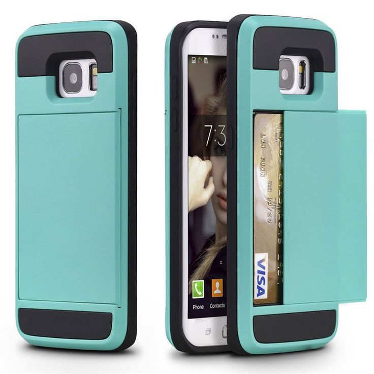 For Samsung Galaxy S7 S6 Edge S8 Plus S5 S4 S3 A5 A7 J5 J7 2016 Grand Core Prime Phone Case Slide Credit Card Slot Wallet Cover
