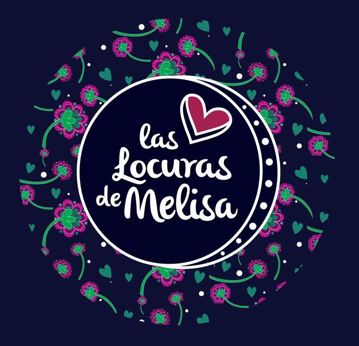 """Logotipo """"las locuras de Melisa"""" Ilustración digital - Melisa Amaya -Ilustradora & diseñadora  © Todos los Derechos Reservados"""
