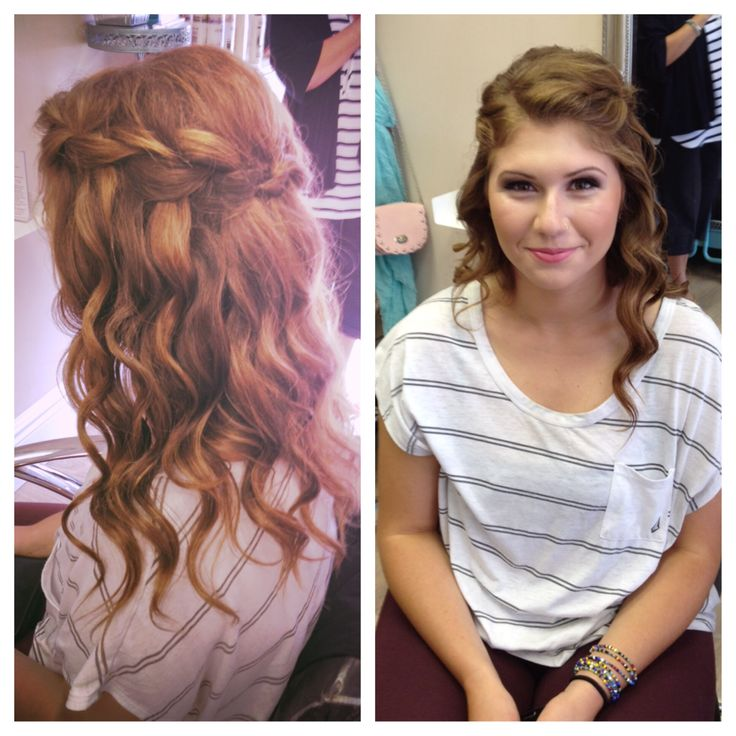Updo for Prom #bbbeauty #bbbteam #waterfall #braid www.brittanybuckhair.com
