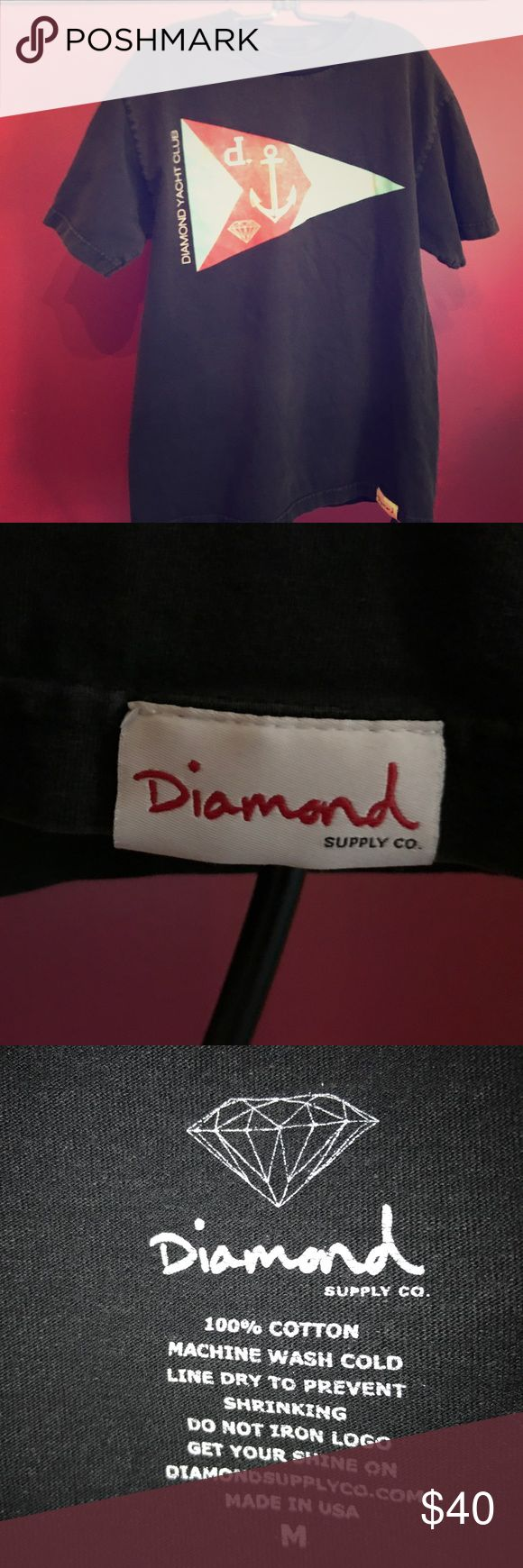 Diamond Yacht Club T-Shirt Super rare old school style Diamond Yacht Club skater tee from Diamond Supply Company. Pre-owned/broken in with love. Unisex. Diamond Supply Co. Shirts Tees - Short Sleeve