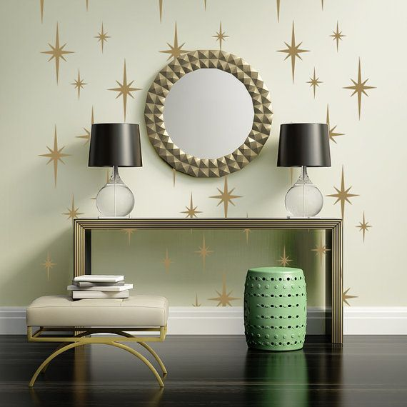 Hey, I found this really awesome Etsy listing at https://www.etsy.com/listing/206981819/wall-decals-retro-geometric-star