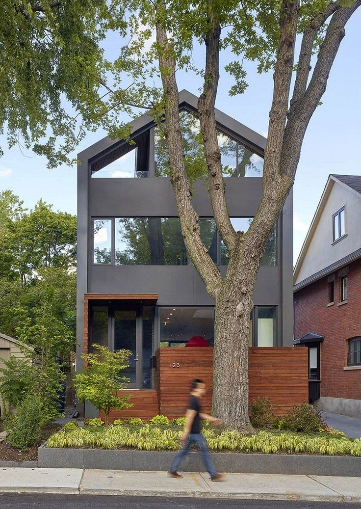 11 best small and narrow house plan images on pinterest for Dubbeldam architecture and design s contrast house