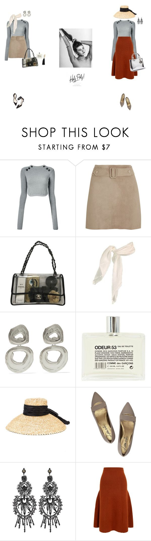 """""""Untitled #299"""" by palina-parker ❤ liked on Polyvore featuring Isabel Marant, Calvin Klein Collection, Chanel, Leigh Miller, 3.1 Phillip Lim, Comme des Garçons, Eugenia Kim, Lanvin, Gucci and Joseph"""