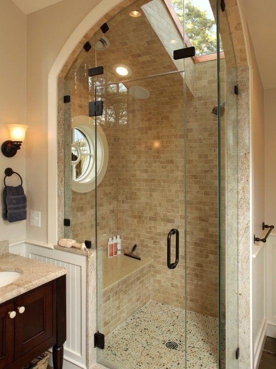 nice enclosureShower Ideas, Bathroom Design, Masterbath, Bathroomdesign, Sky Lights, Windows, Master Bath, Glasses Doors, Dreams Shower