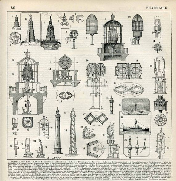 Lighthouses Architecture Lights Inner Workings French ...