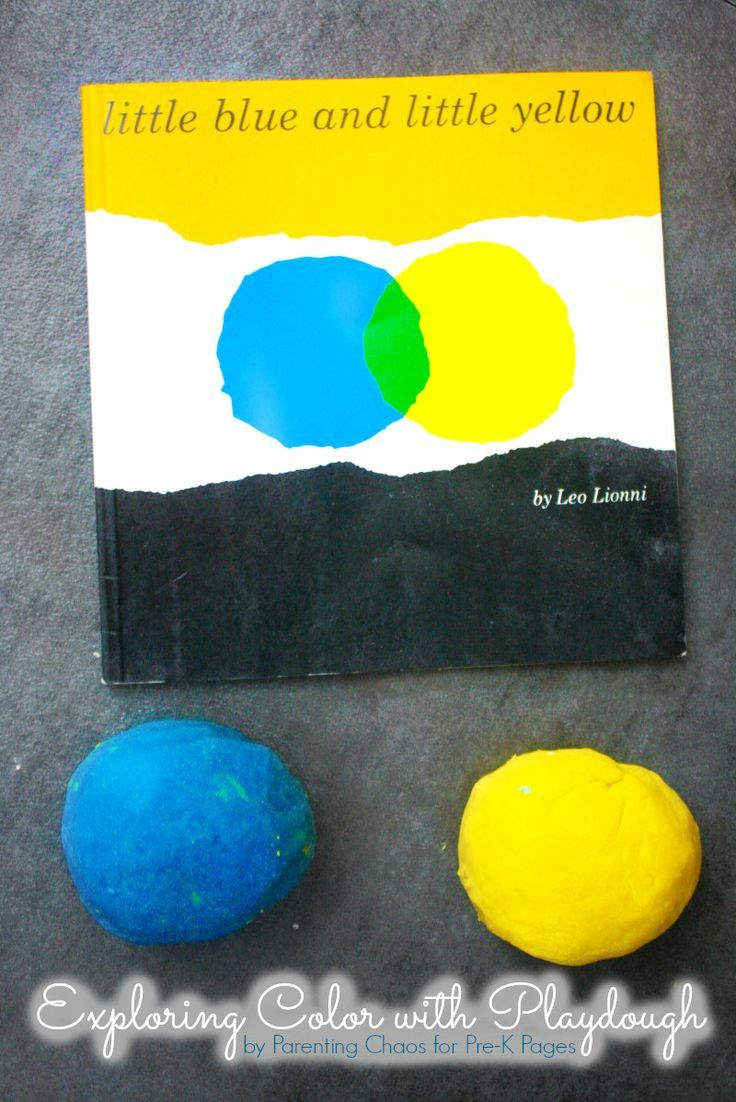 Little Blue and Little Yellow: Exploring Colors with Play Dough. A fun color mixing activity to accompany the book Little Blue and Little Yellow. Perfect for your preschool and kindergarten kids and a science experiment too! - Pre-K Pages