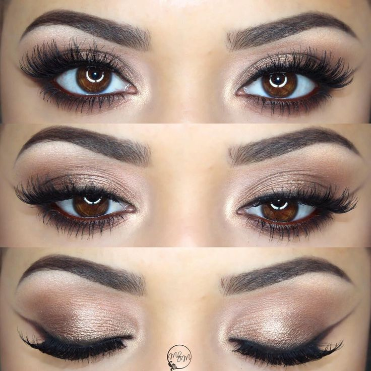 bronze eye w/ a soft + wearable wing made w/ eyeshadow @makeupbymeggan   #smokey #makeup #shimmery #neutral #winged #liner #eyeliner