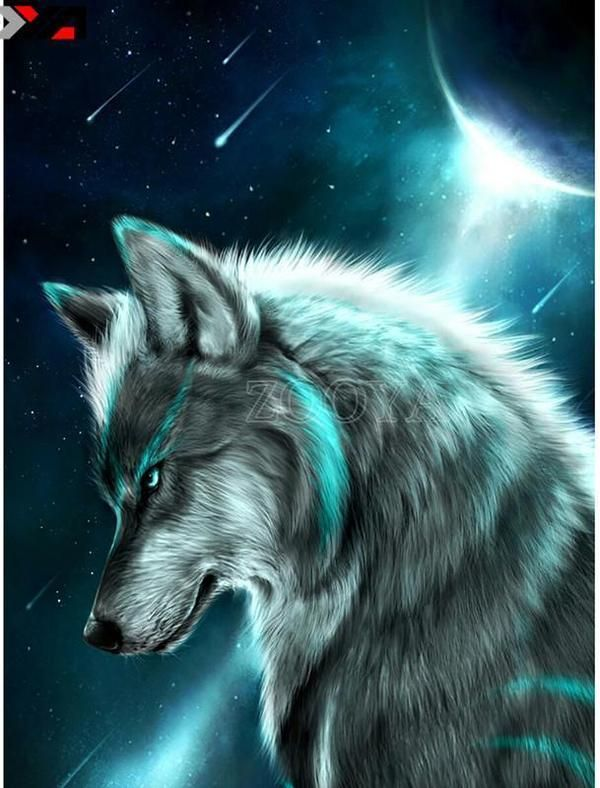Galaxy Cute Aesthetic Anime Lone Wolf Wolf Wallpaper