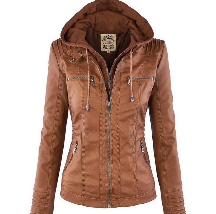 Best 25  Hooded leather jacket ideas on Pinterest | Women's ...