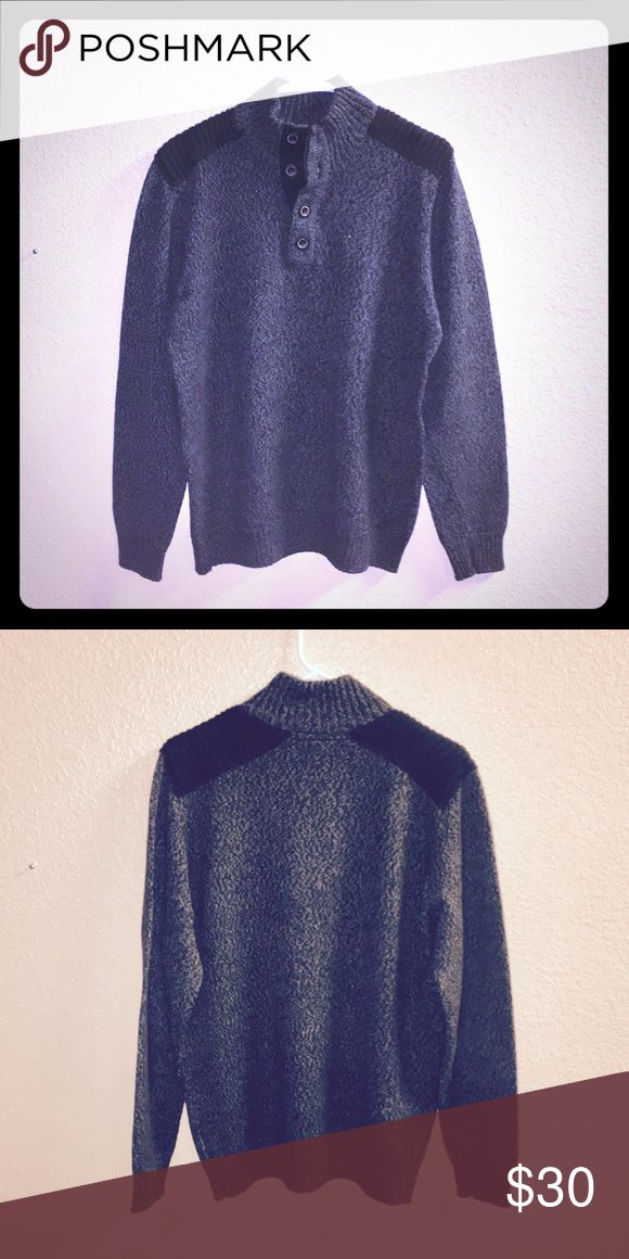 "Apt. 9 Men's Pullover Sweater WORN ONCE 👦🏻 Flawless Condition, Like New! Dimensions: 22"" Across the front of chest, 28"" from the top of shoulder to the bottom of the sweater. Buttons down the chest. 60% Cotton, 40% Acrylic. No stains, fading, tears, or fuzzies! Worn Once. From Kohl's. Apt. 9 Sweaters"