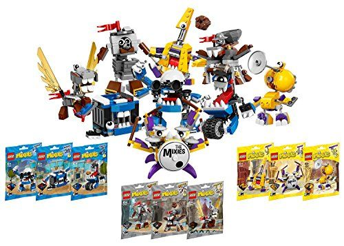 Maximize your building fun with this set of 9 MIXELS character Lego building sets! This set includes ALL of Lego's Series 7 MIXELS. Individually bagged each set creates one character but mix them to...