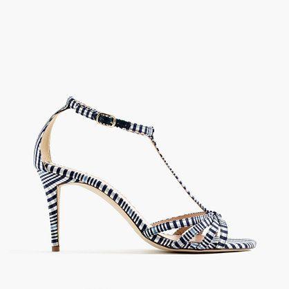 Printed multistrap sandals
