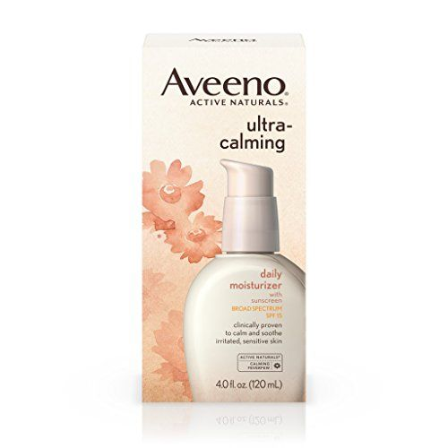 Aveeno Ultra-Calming Daily Moisturizer For Sensitive Skin With Broad Spectrum Spf 15, 4 Fl. Oz. #Aveeno #Ultra #Calming #Daily #Moisturizer #Sensitive #Skin #With #Broad #Spectrum