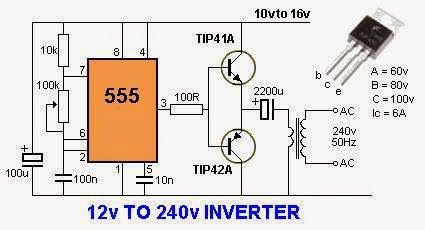 12 Volts to 240 Volts Inverter | Electrical Engineering Blog