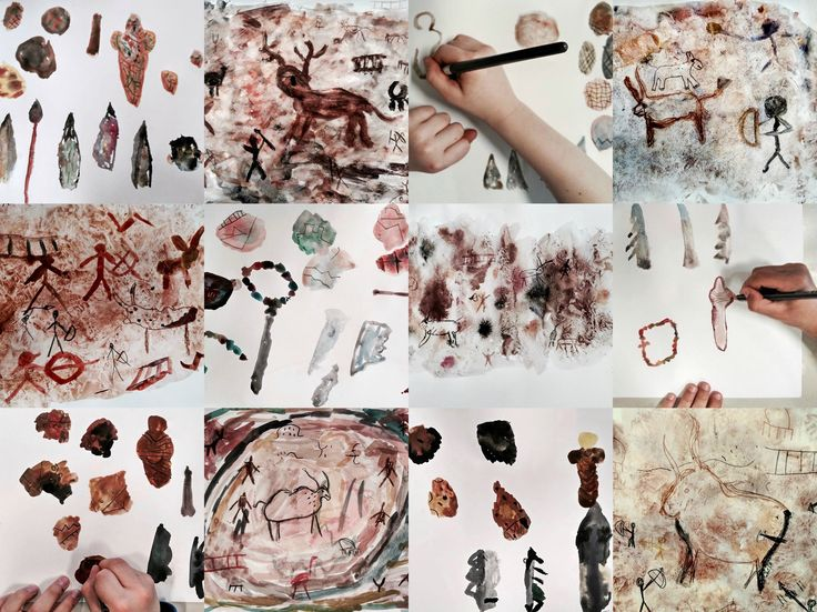 """A jump back to Prehistory Times"" Drawings made by primary school children - Serena Mabilia"