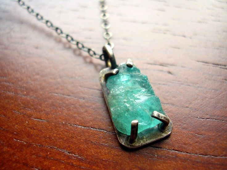 252 best pendants images on pinterest jewelry jewelry necklaces apatite rough set in sterling silver mozeypictures Images