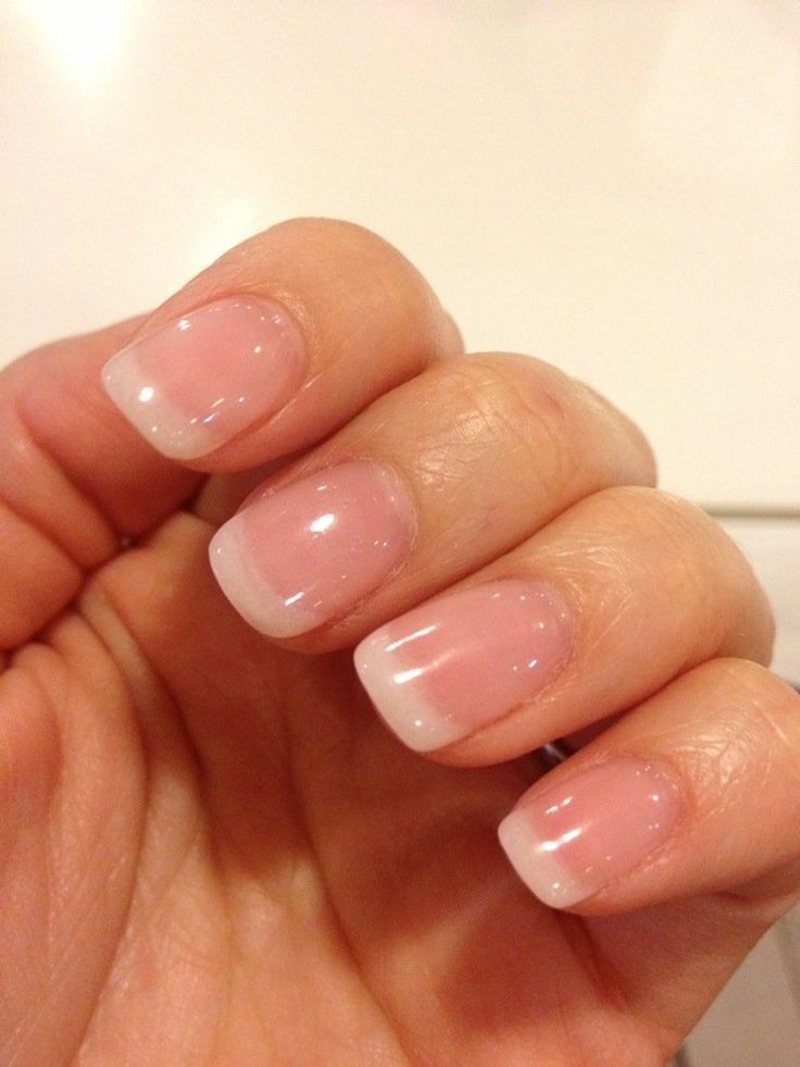 NEW Diamond Gel classic off white-French manicure with SNS powder