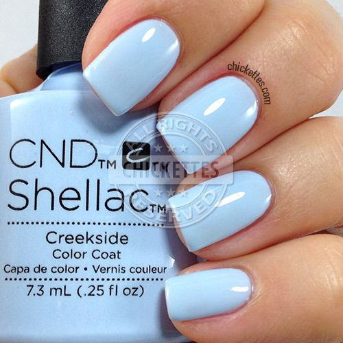 CND Shellac Creekside - swatch by Chickettes.com. CND Shellac is available at www.esthersnc.com