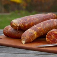 Portuguese chorizo can be smoked, dried or fresh. Fresh chorizo needs to be grilled or cooked to be eatable. Smoked or dried chorizo can be eaten right away.