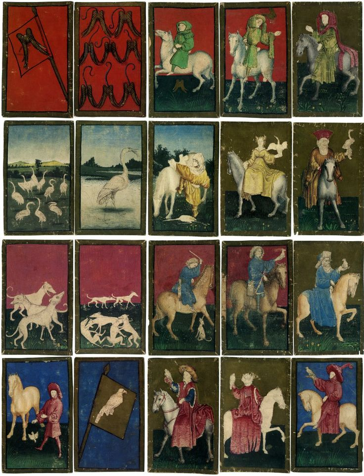 The Ambras Court Hunting pack, c.1445         The Princely Hunting Pack of Ambras, hand-painted, attributed to the workshop of Konrad Witz, c.1440