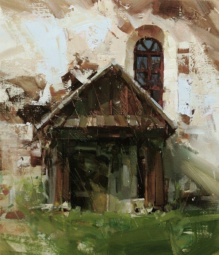 An Old Prayer by Tibor Nagy Oil ~ 13,8 x 11,8