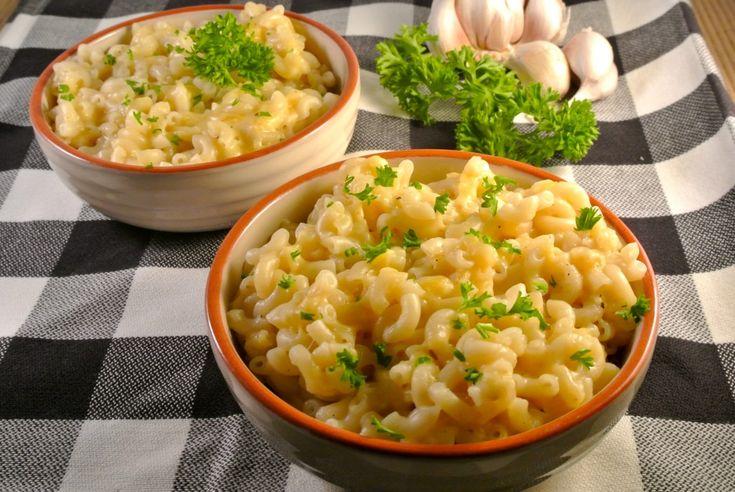 mac and cheese in < 10 min macaroni met kanas en knoflook