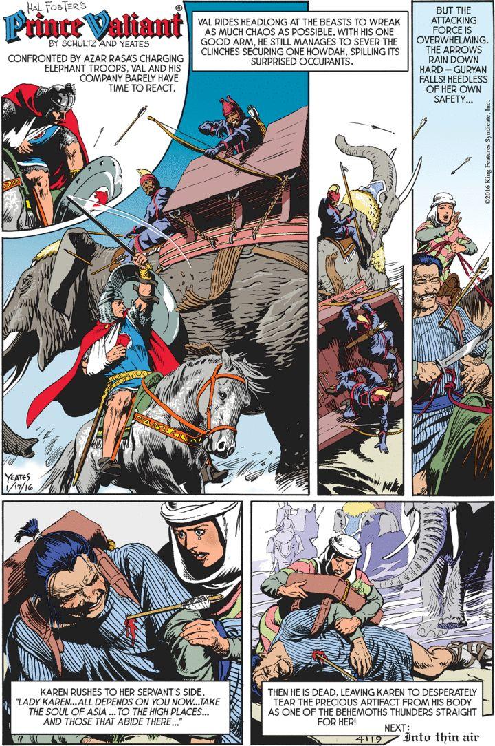 Prince Valiant Comic Strip for January 17, 2016