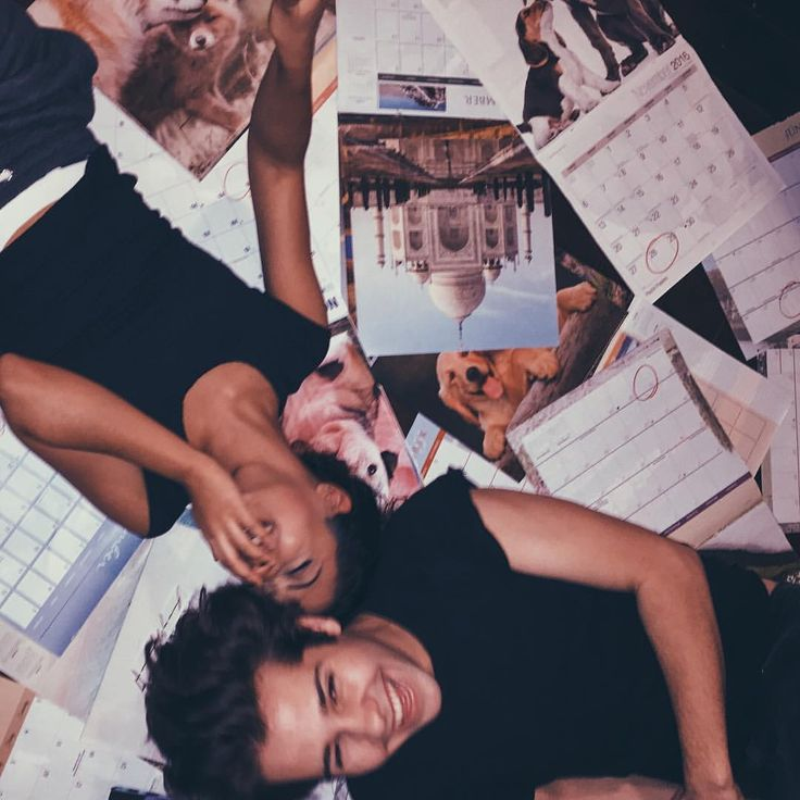 """Liza Koshy on Instagram: """"only we would spend a pun of money on calendars to take a pic just to tell you that yes... we are dating"""""""