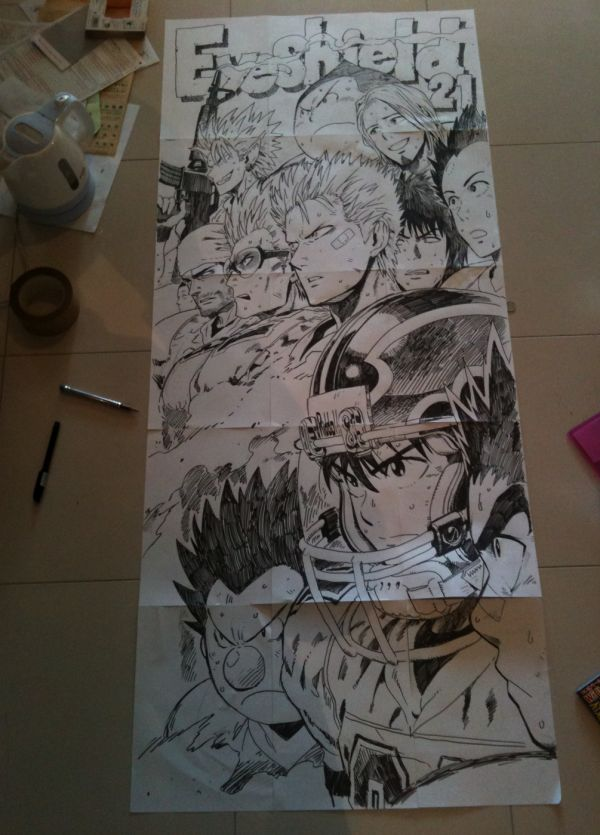 """Yusuke Murata's """"Eyeshield 21"""" ~~ An oldie, but a goodie from the pages of Shonen Jump!"""