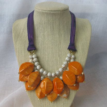 Clemson Girl - Sweet Clover Clemson gameday statement necklace giveaway