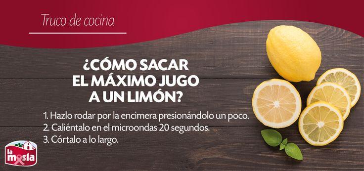 Extrae todo el jugo a un #limón con estos sencillos #trucos. #trucosdecocina