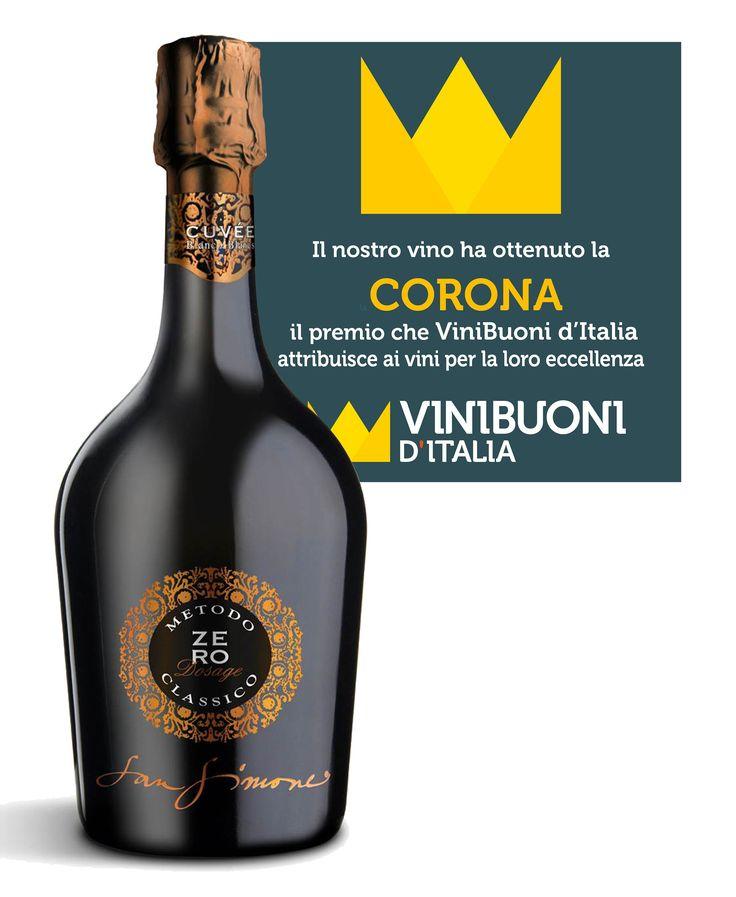 Il nostro Metodo Classico Zero Dosage Millesimato 2011 ha ottenuto il massimo riconoscimento della guida Vini Buoni d'Italia. #Corona #ViniBuonidItalia #proud #happy