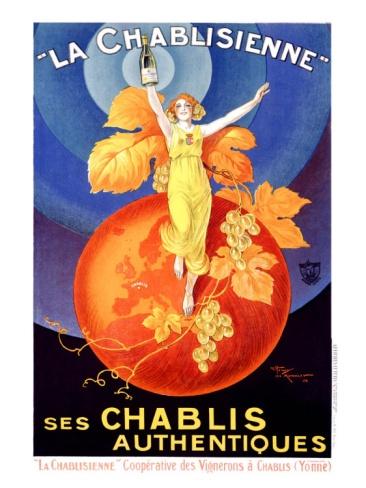 La Chablisienne #art #print #vintage
